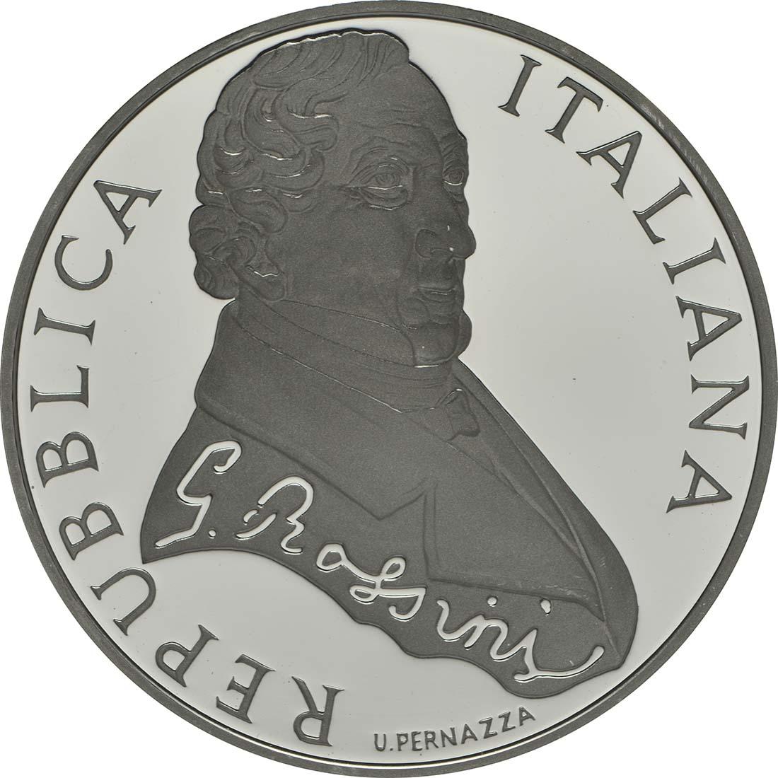 Vorderseite:Italien : 10 Euro Gioacchina Rossini  2014 PP