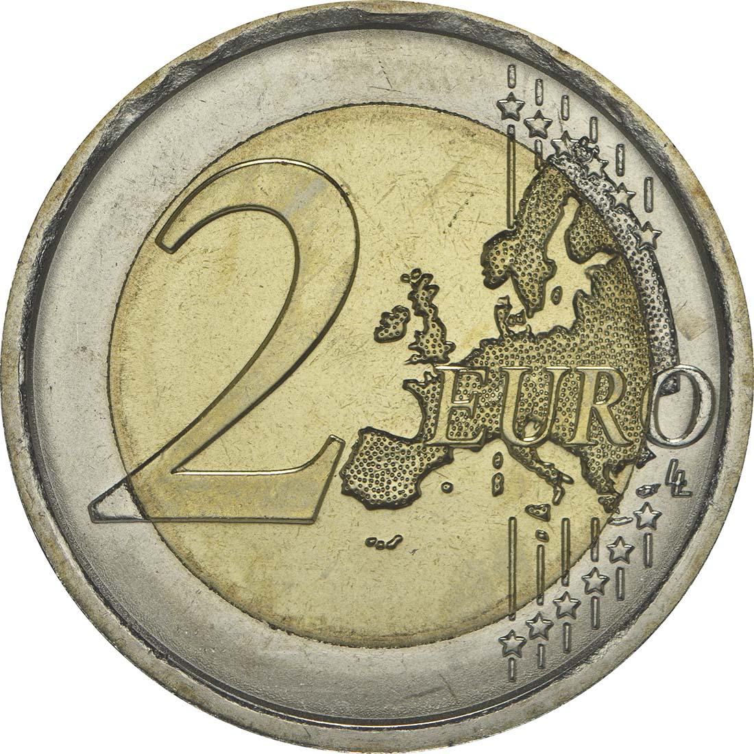 Vorderseite:Italien : 2 Euro Galileo Galilei  2014 bfr