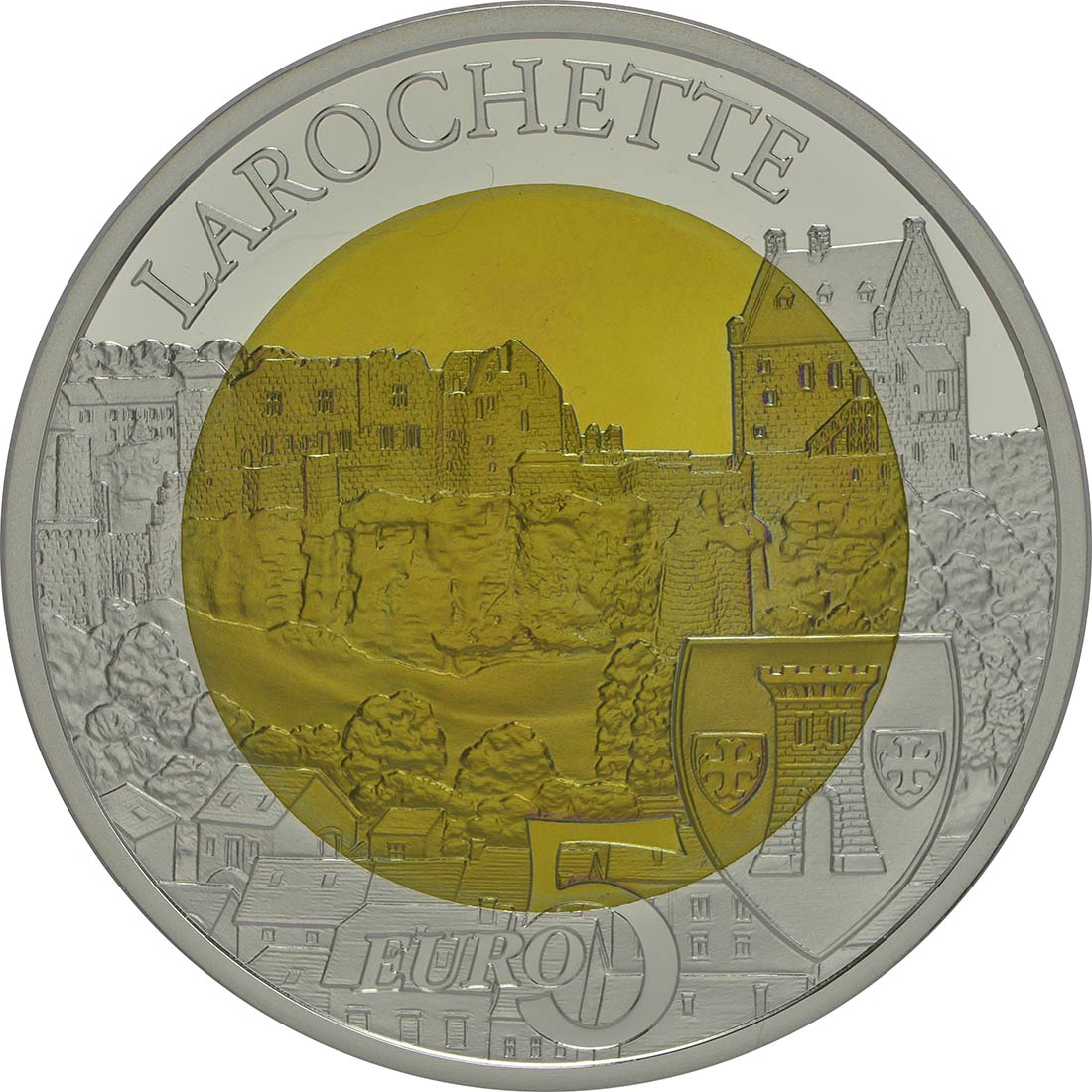 Rückseite:Luxemburg : 5 Euro Burg Larochette  2014 PP