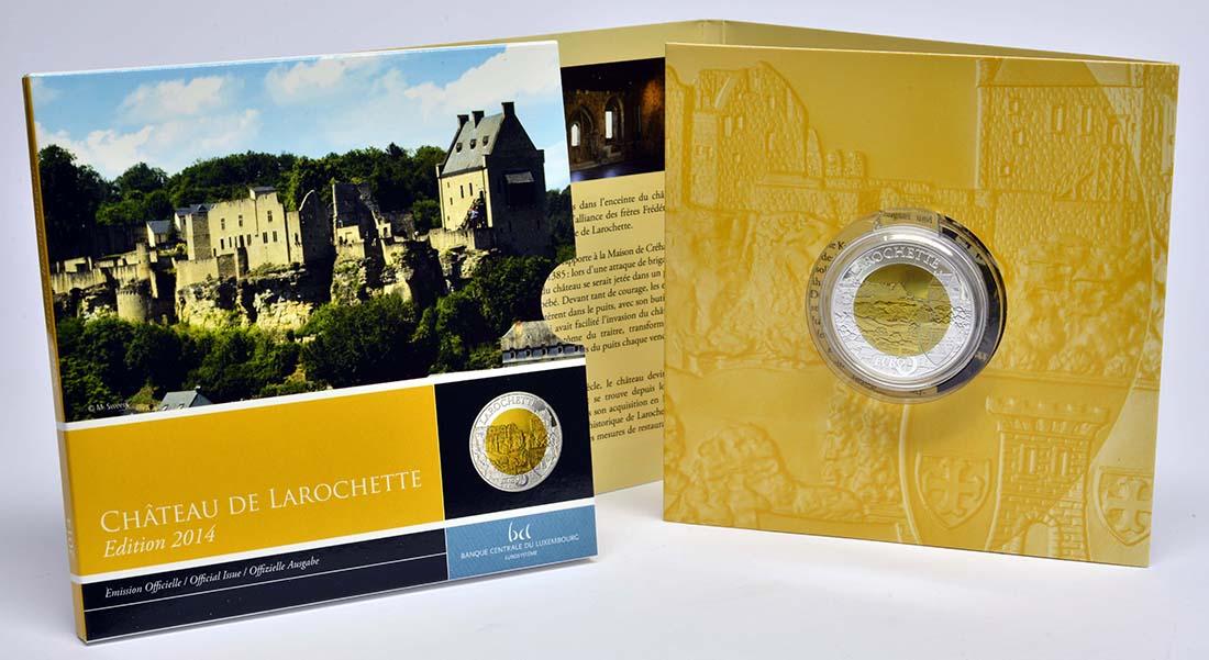 Lieferumfang:Luxemburg : 5 Euro Burg Larochette  2014 PP
