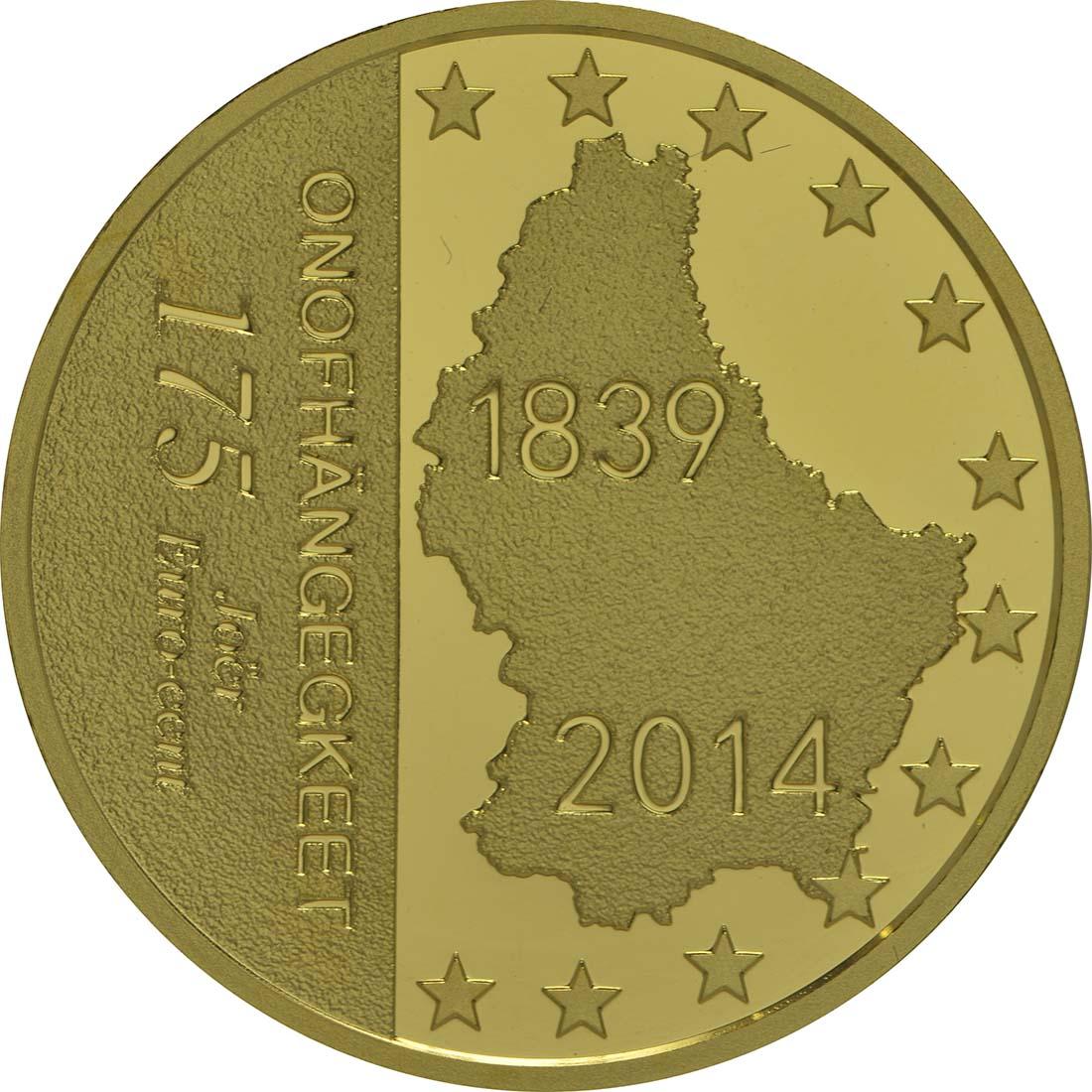 Rückseite:Luxemburg : 175 Cent 175 Jahre Unabhängigkeit  2014 PP