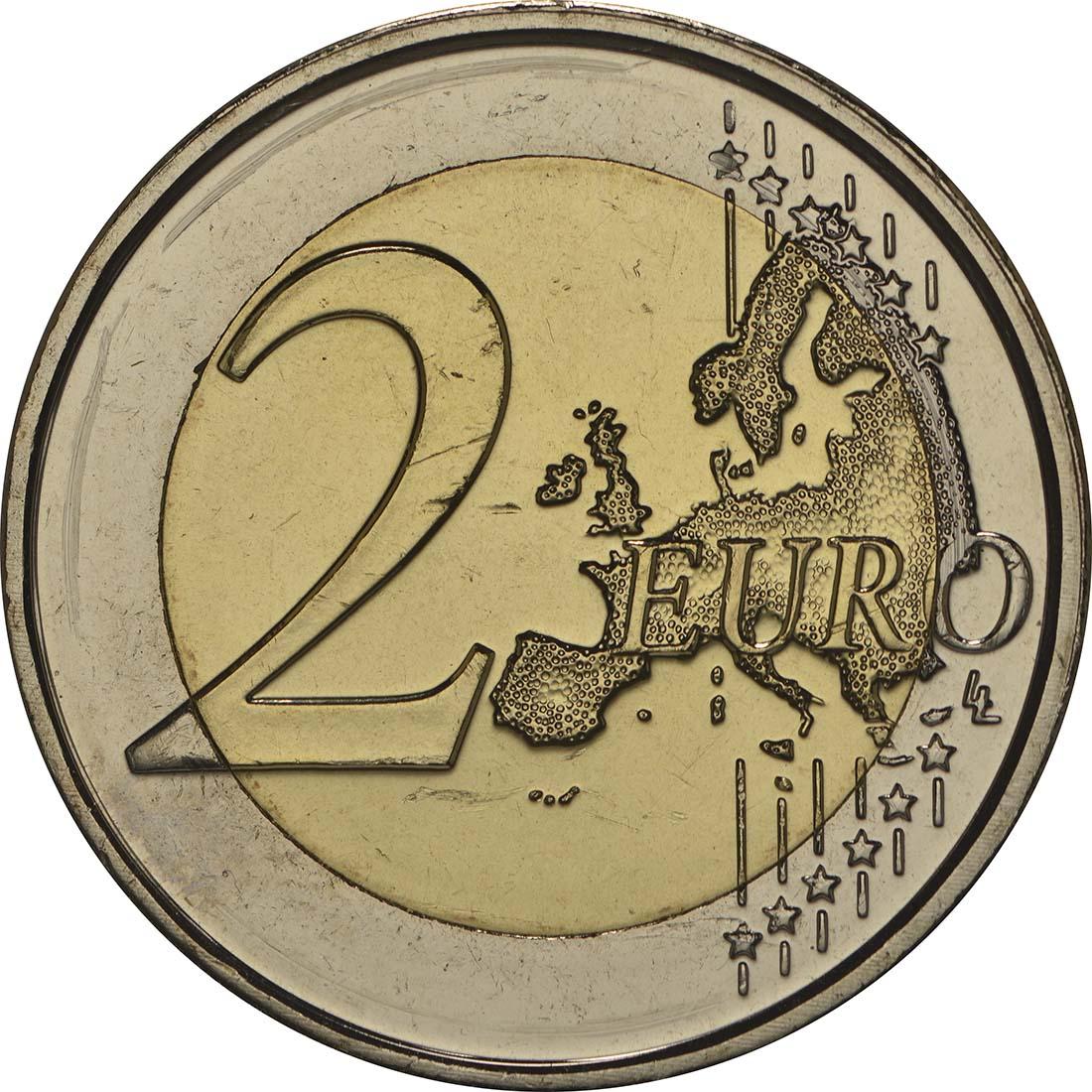 Vorderseite:Malta : 2 Euro Unabhängigkeit 1964  2014 bfr