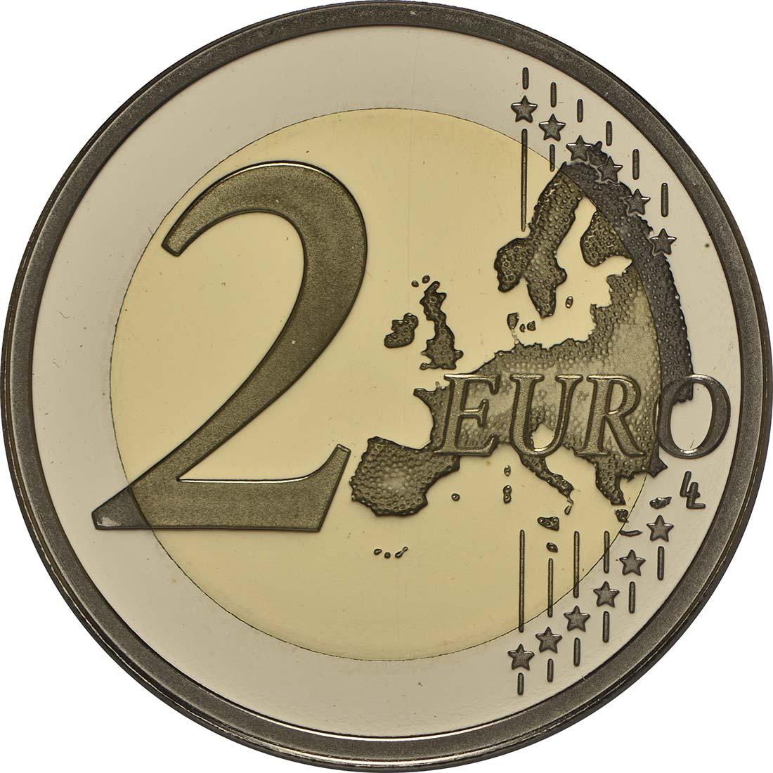 Vorderseite:Malta : 2 Euro Unabhängigkeit 1964  2014 PP