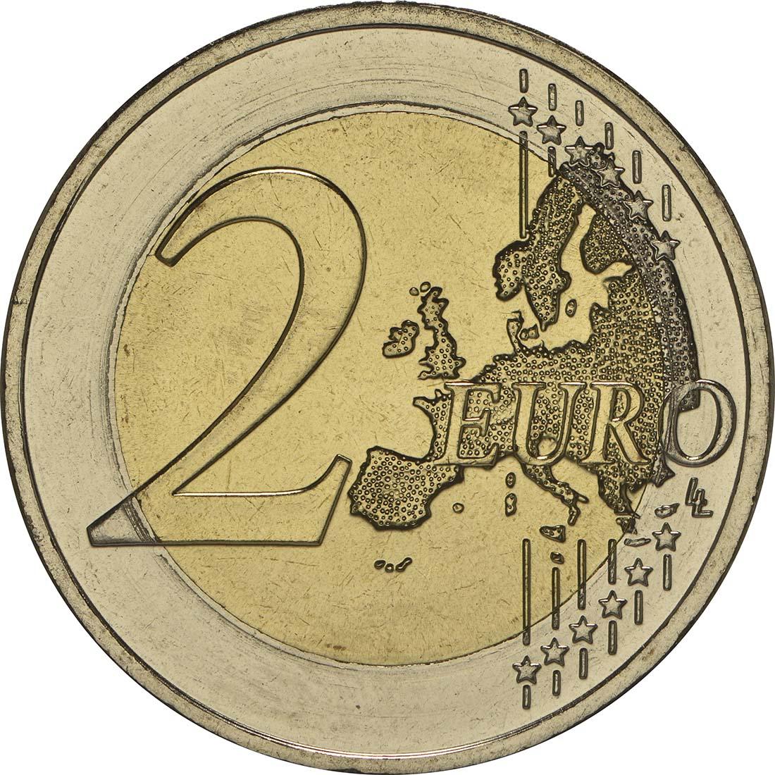 Vorderseite :Griechenland : 2 Euro 150 Jahre Union der Ionischen Inseln mit Griechenland  2014 bfr