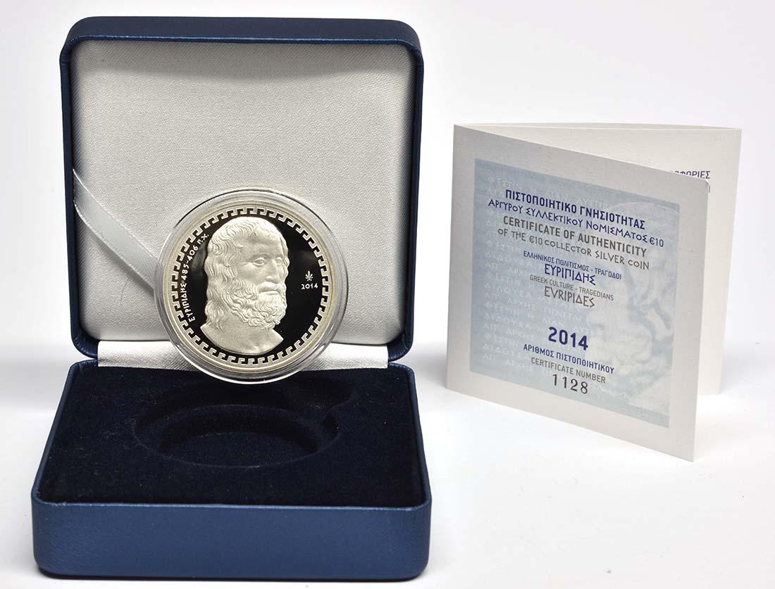 Lieferumfang:Griechenland : 10 Euro Euripides  2014 PP
