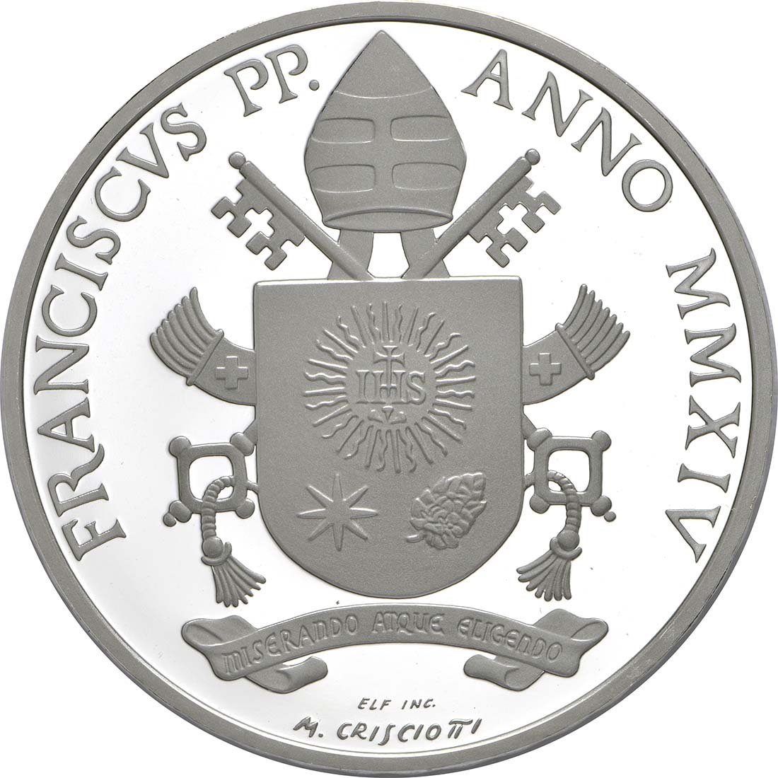 Rückseite:Vatikan : 23,88 Euro KMS Vatikan mit 20 Euro Gedenkmünze Heiligsprechung Papst Johannes XXIII  2014 PP