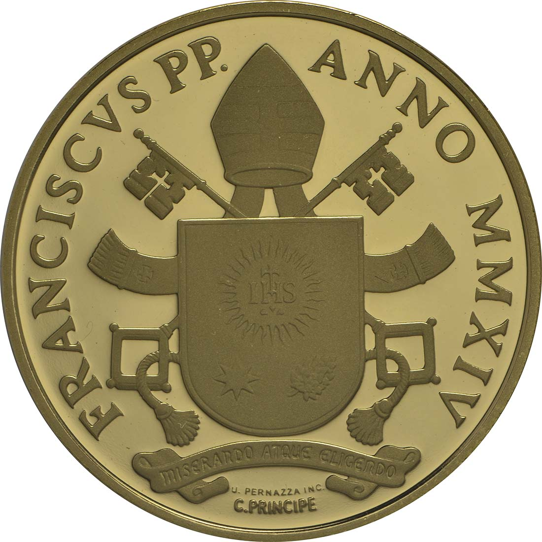 Rückseite:Vatikan : 53,88 Euro KMS Vatikan mit 50 Euro Gedenkmünze Heiligsprechung Papst Johannes Paul II.  2014 PP