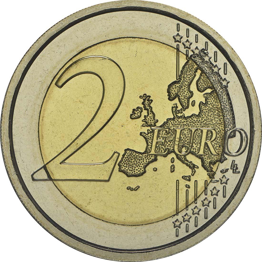 Vorderseite :Vatikan : 2 Euro 25. Jahrestag Mauerfall Berlin  2014 Stgl.