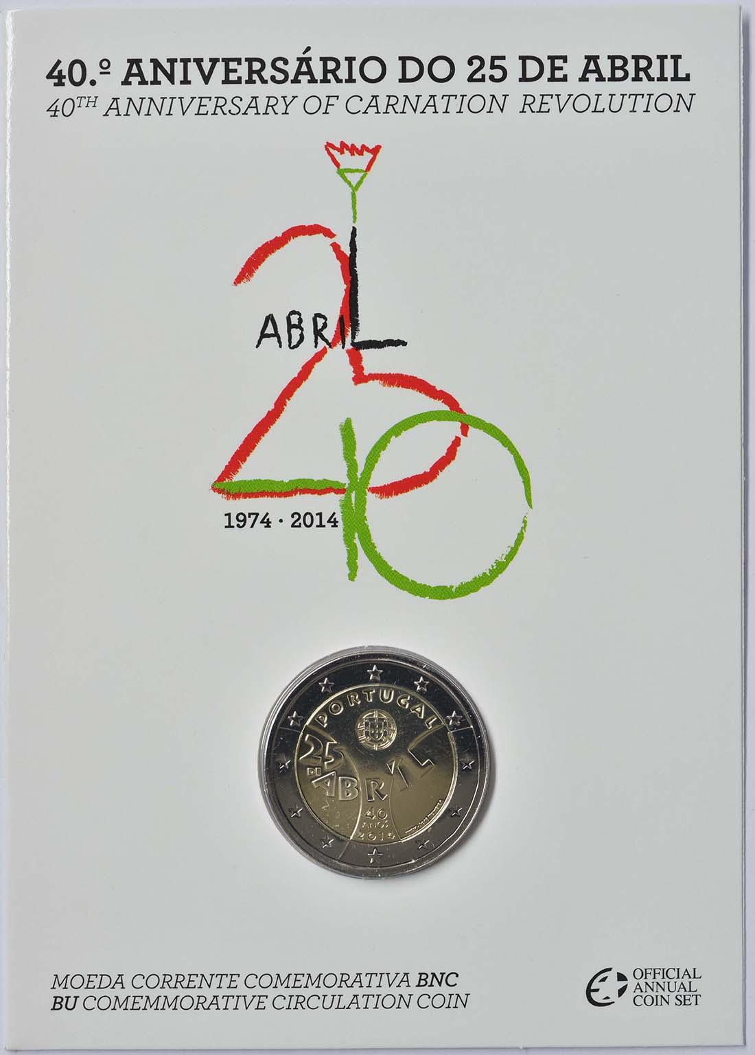 Portugal : 2 Euro Nelkenrevolution  2014 Stgl.