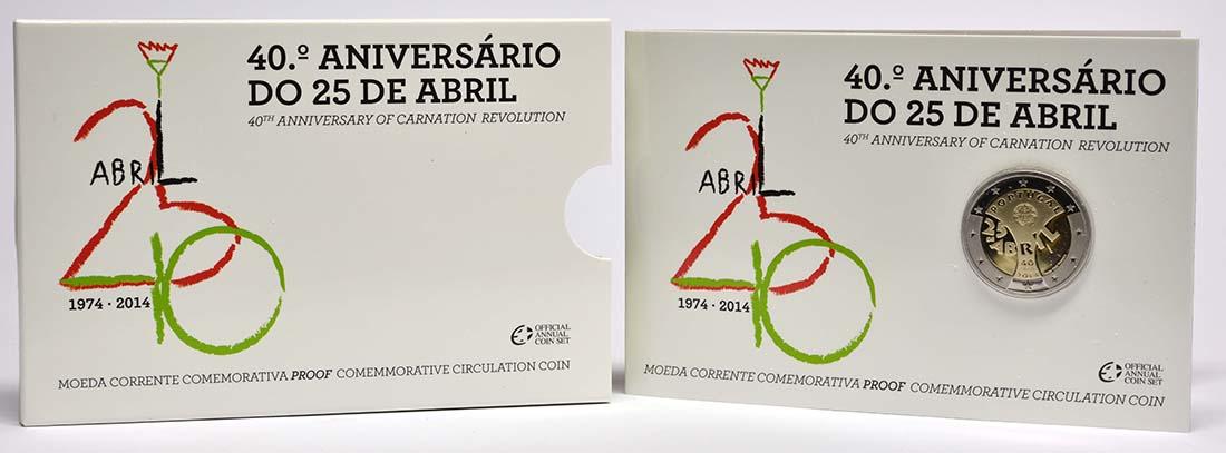 Portugal : 2 Euro Nelkenrevolution  2014 PP