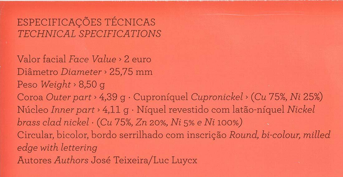 Zertifikat :Portugal : 2 Euro Nelkenrevolution  2014 PP