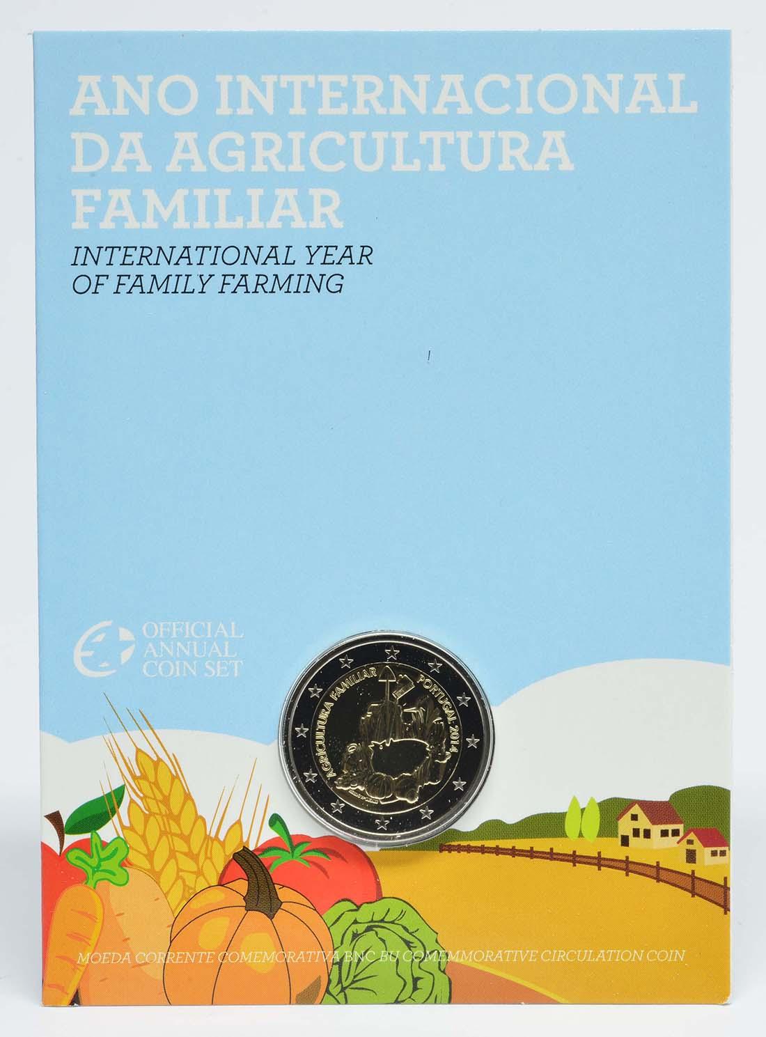 Portugal : 2 Euro Internationales Jahr der familiären Landwirtschaft  2014 Stgl.