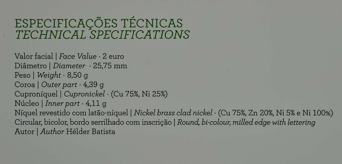 Zertifikat:Portugal : 2 Euro Internationales Jahr der familiären Landwirtschaft  2014 PP