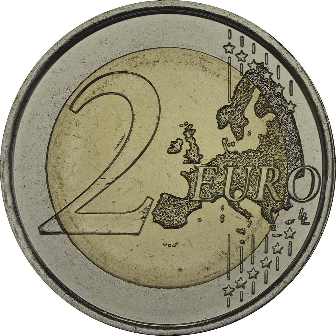 Vorderseite :Spanien : 2 Euro Park Güell - Antonio Gaudi  2014 bfr
