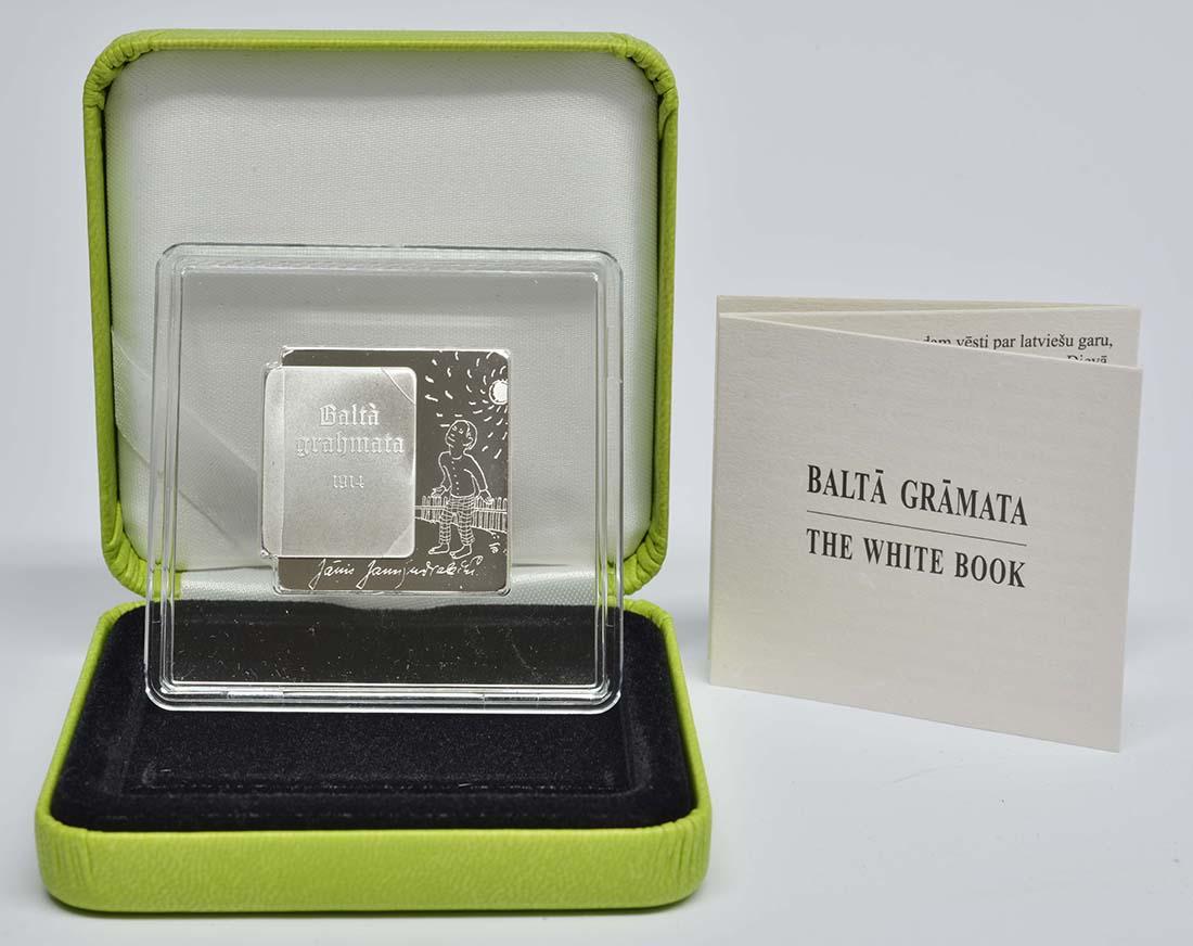 Lieferumfang:Lettland : 5 Euro Das Weiße Buch von Janis Jaunsudrabins  2014 PP