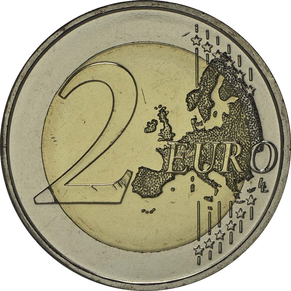 Vorderseite :Lettland : 2 Euro Riga Kulturhauptstadt  2014 bfr