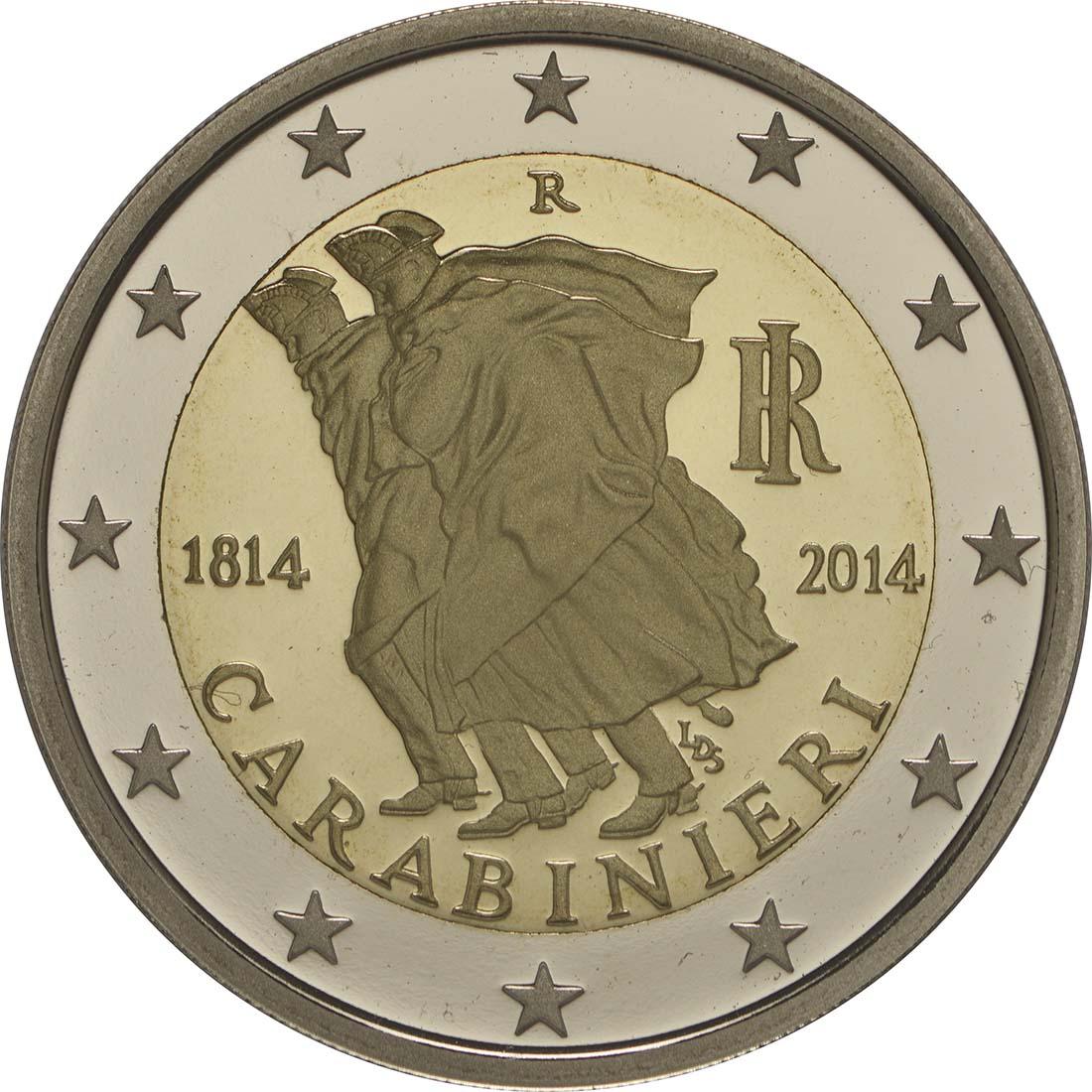 Rückseite:Italien : 2 Euro Carabinieri  2014 PP