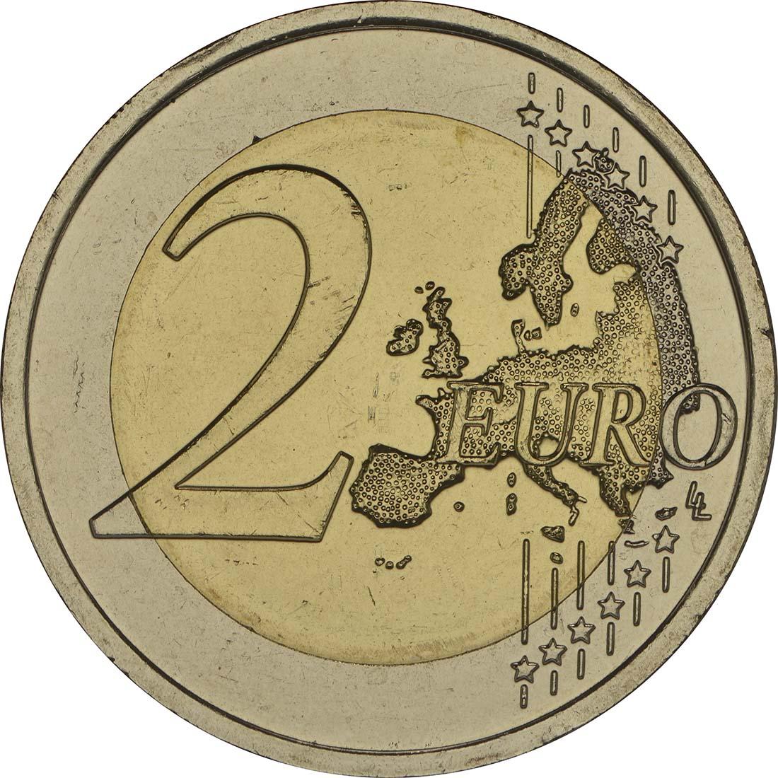 Vorderseite :Slowakei : 2 Euro 10. Jahrestag EU-Beitritt  2014 bfr