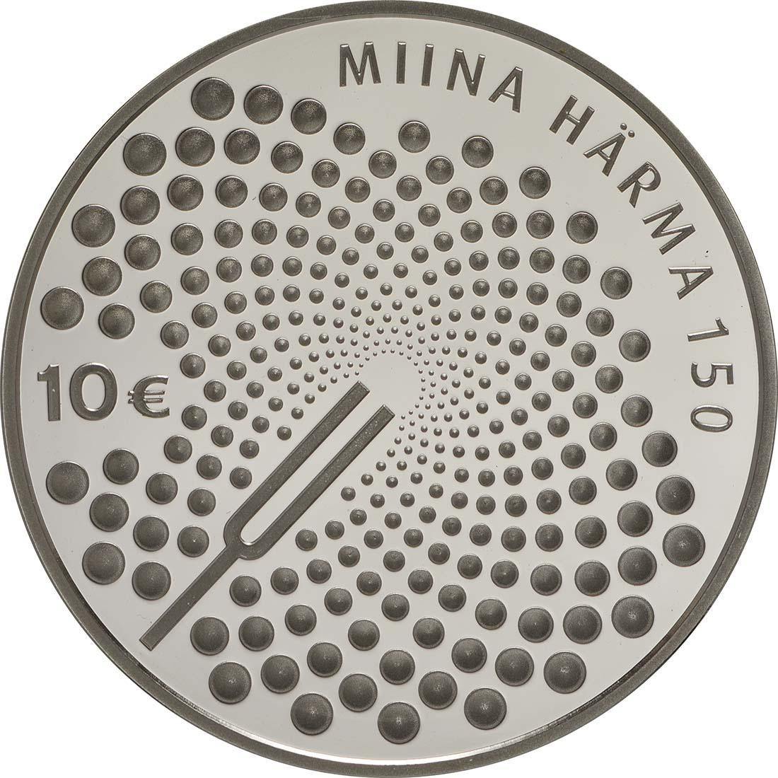 Vorderseite:Estland : 10 Euro 150. Geburtstag Miina Härma  2014 PP