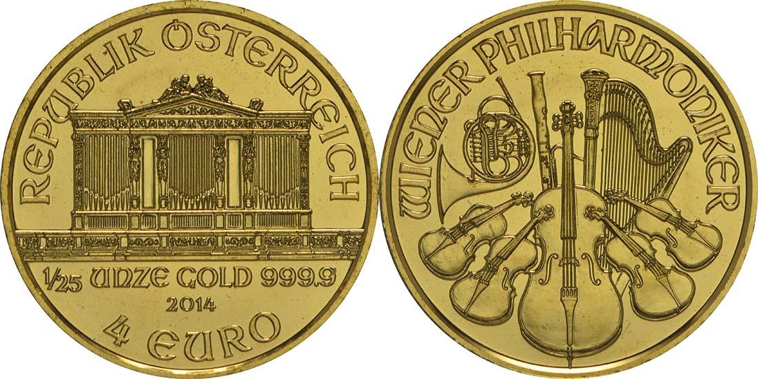 Lieferumfang:Österreich : 4 Euro Philharmoniker  2014 Stgl.