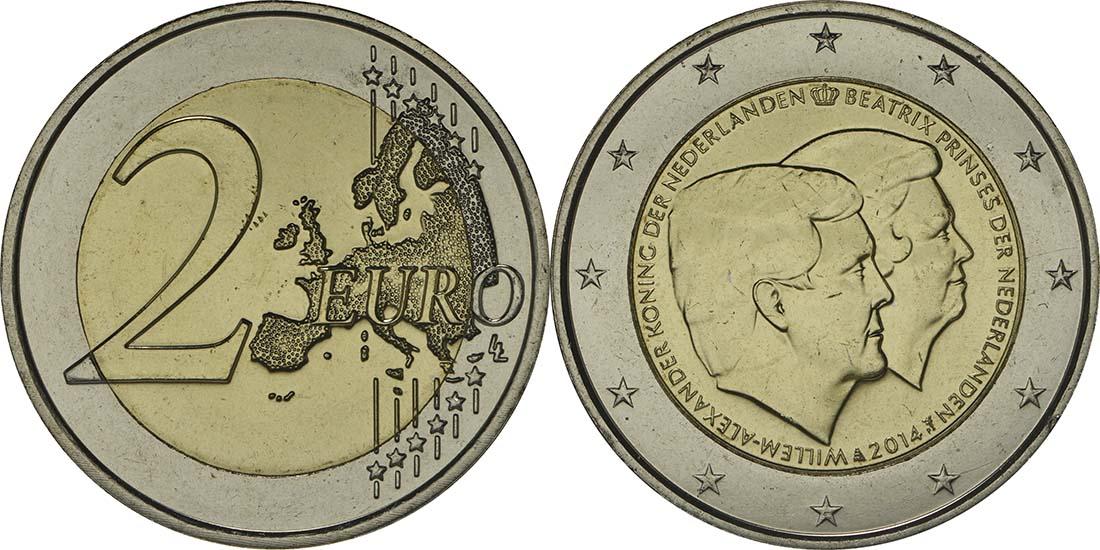 Niederlande : 2 Euro Doppelportrait  2014 bfr