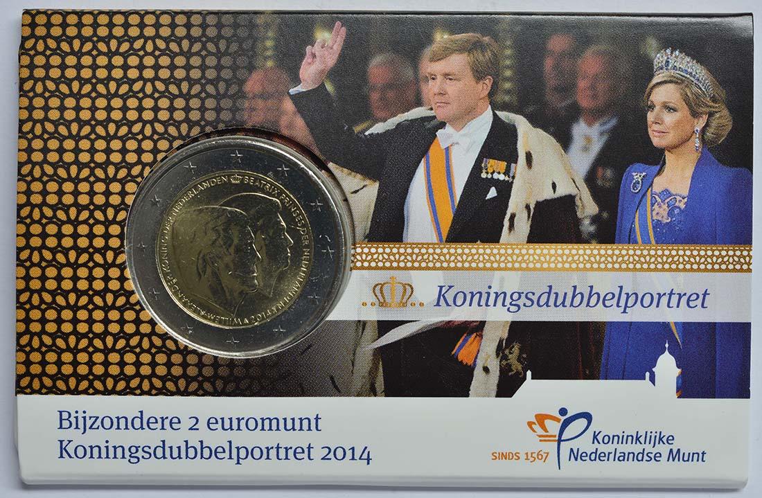 Lieferumfang:Niederlande : 2 Euro Doppelportrait  2014 vz/Stgl.