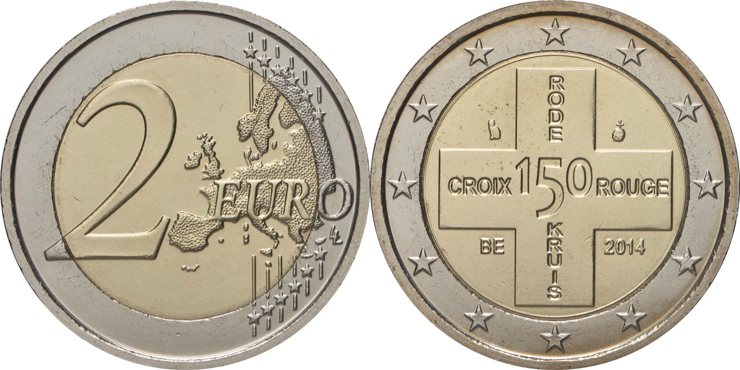 Belgien : 2 Euro 150 Jahre Rotes Kreuz in Belgien  2014 bfr