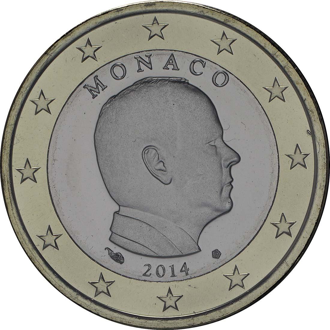 Monaco : 1 Euro Albert - Kursmünze  2014 Stgl.