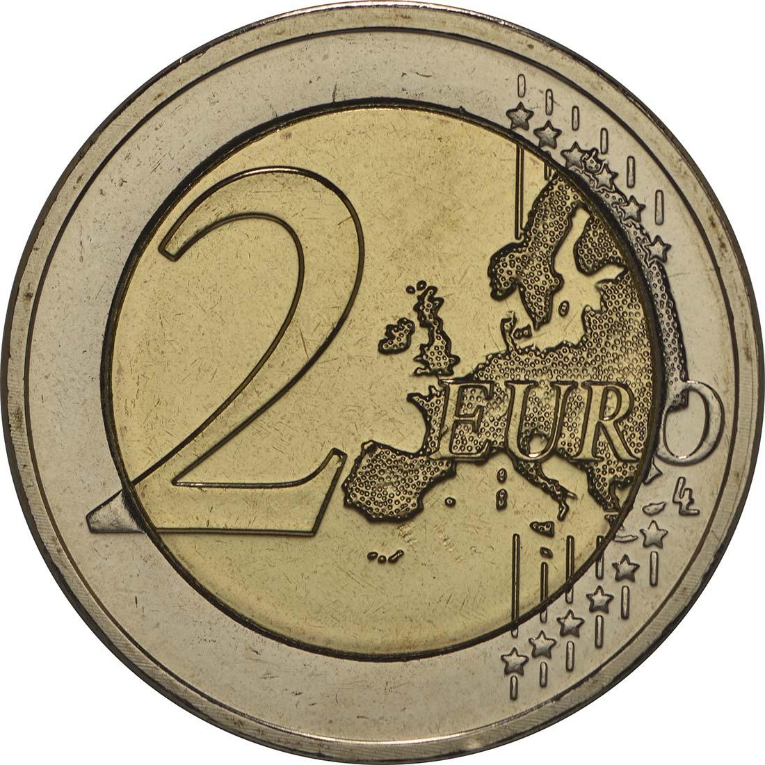 Vorderseite :Luxemburg : 2 Euro 50 Jahre Thronbesteigung Großherzog Jean  2014 bfr