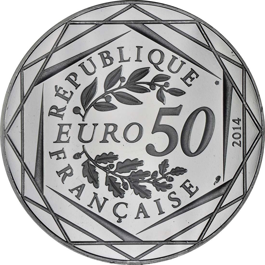 Rückseite:Frankreich : 50 Euro Herbst/Winter Paix  2014 PP