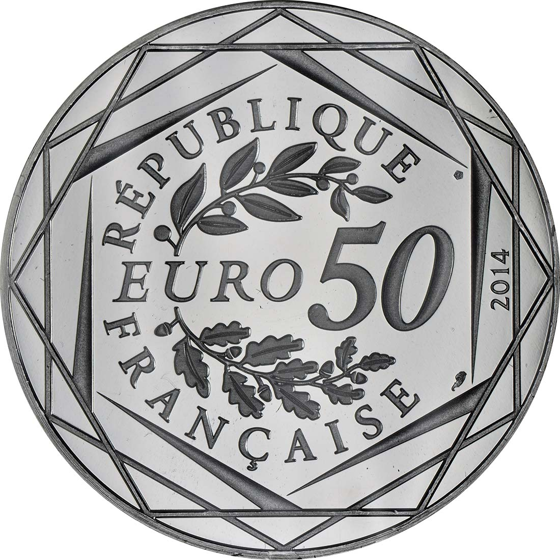 Rückseite:Frankreich : 50 Euro Frühling/Sommer Paix  2014 PP