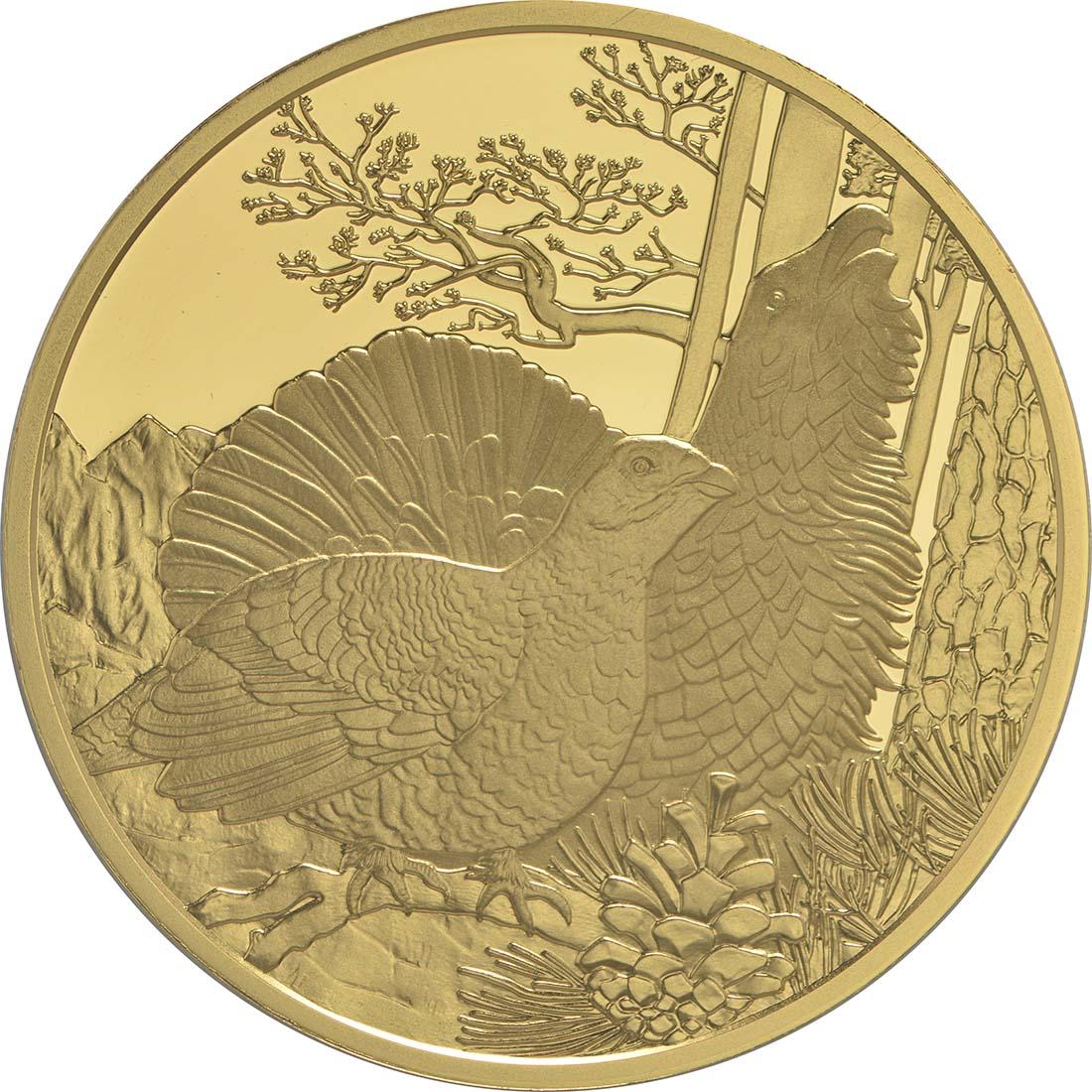 Vorderseite:Österreich : 100 Euro Auerhahn  2015 PP