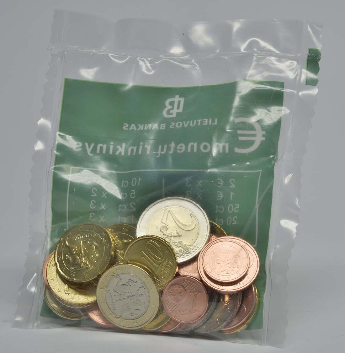 Übersicht:Litauen : 11,59 Euro Starterkit : 3x2 Euro, 1 Euro, 50ct, 20ct, 10ct, 2ct, 1ct; 2x5ct  2015 bfr