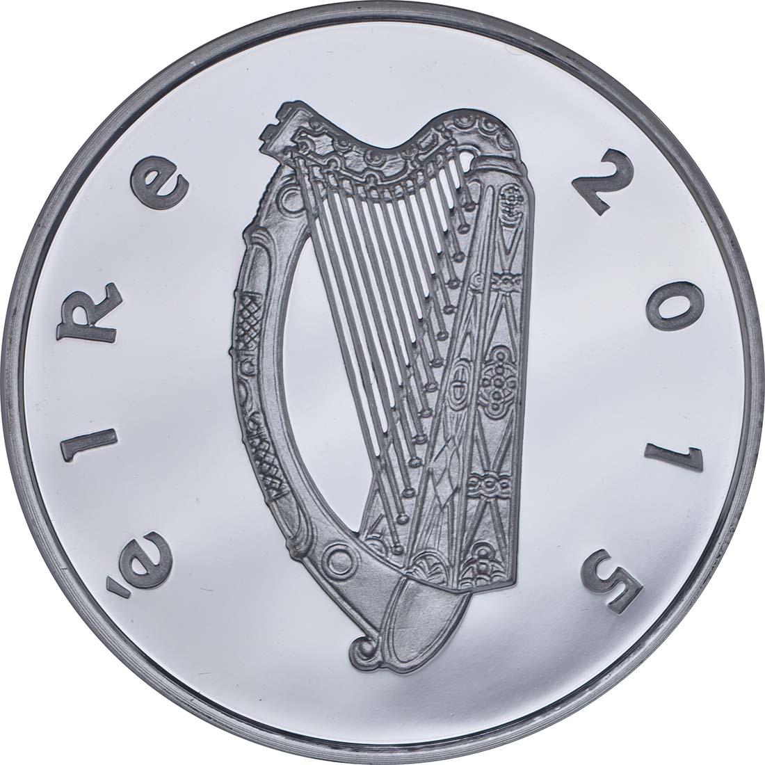 Rückseite:Irland : 15 Euro Ernest Walton - Physik Nobelpreisträger  2015 PP