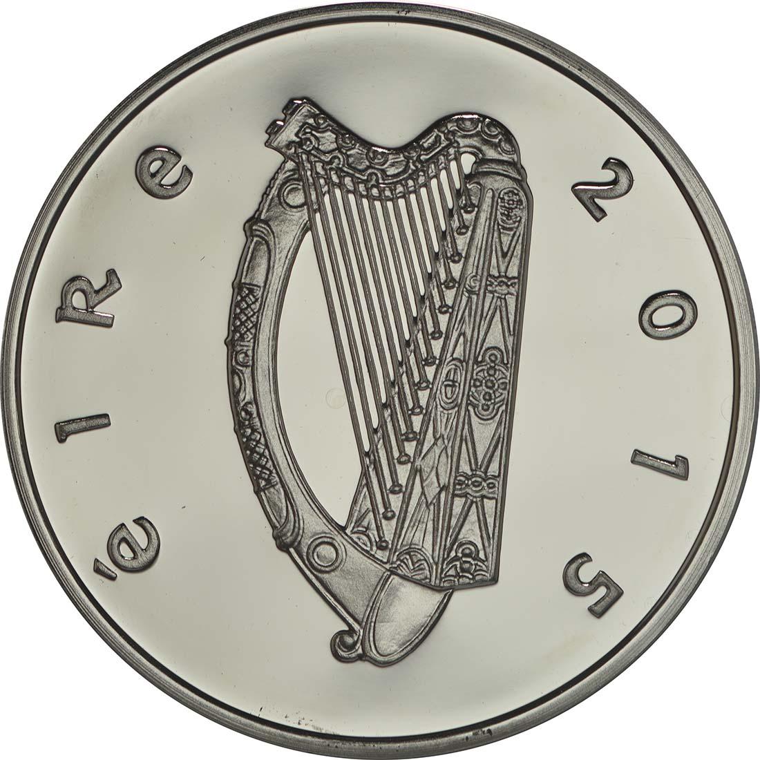 Rückseite:Irland : 15 Euro 150. Geburtstag W.B. Yeats - Irischer Dichter  2015 PP