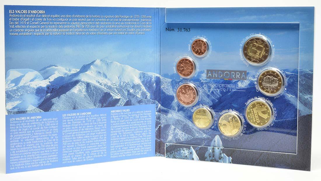 Lieferumfang:Andorra : 3,88 Euro KMS Andorra  2014 Stgl.