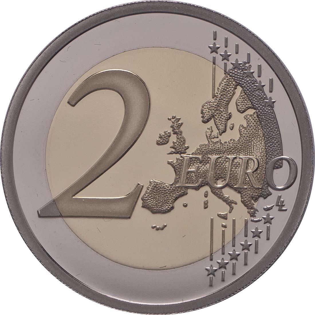 Vorderseite:Frankreich : 2 Euro Frieden in Europa  2015 PP