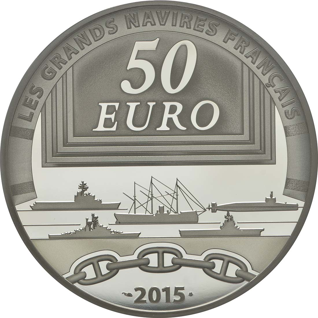 Rückseite:Frankreich : 50 Euro Le Colbert  2015 PP