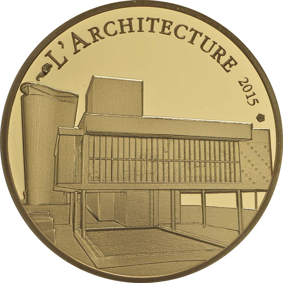 Vorderseite:Frankreich : 50 Euro Le Corbusier  2015 PP