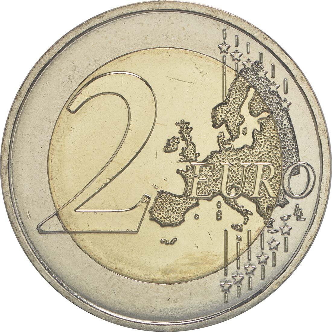 Vorderseite:Frankreich : 2 Euro Föderationsfest  2015 bfr