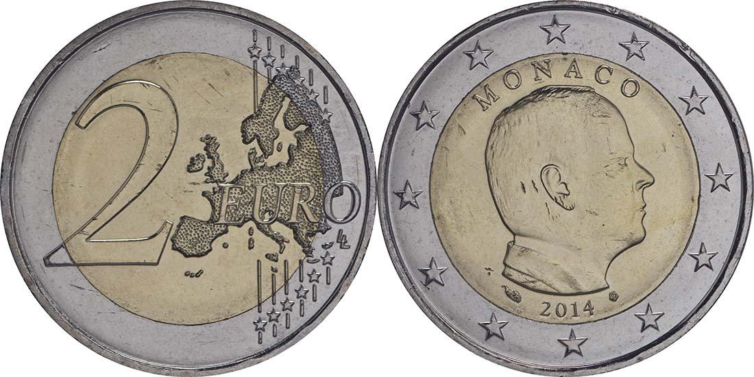 Monaco : 2 Euro Albert  2014 bfr