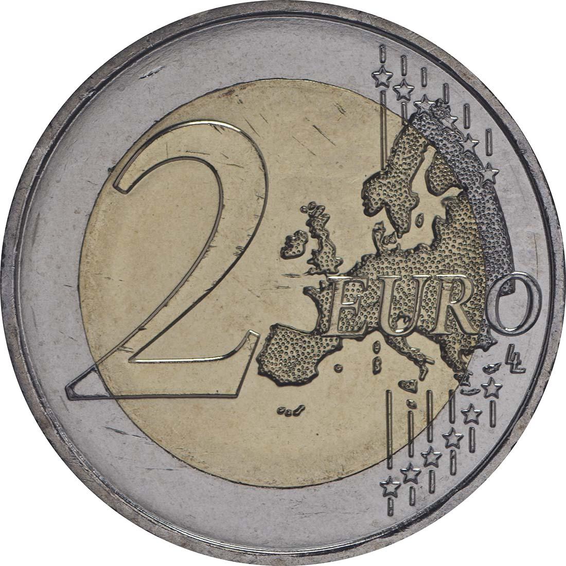 Vorderseite :Monaco : 2 Euro Albert  2014 bfr