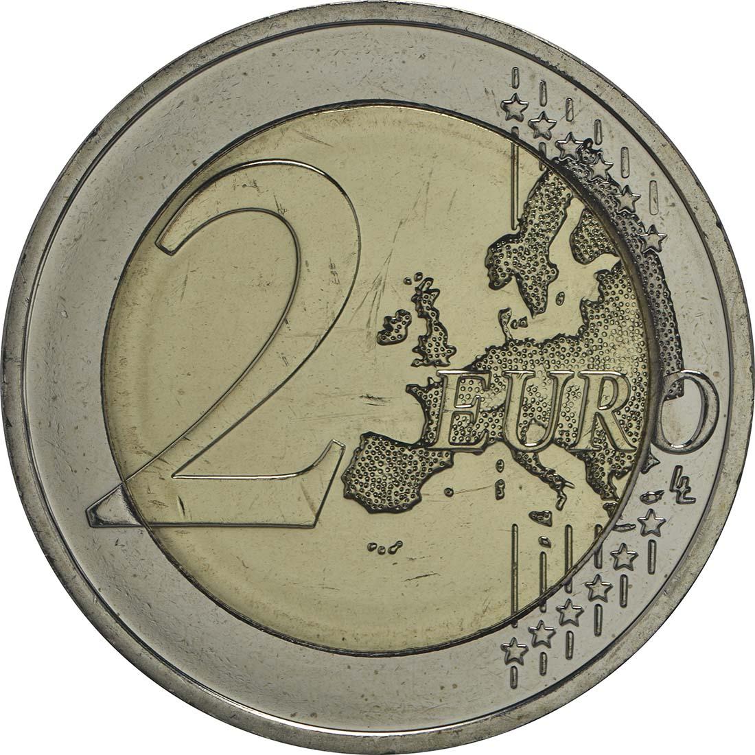 Vorderseite :Deutschland : 2 Euro Hessen - Paulskirche Frankfurt Buchstabe unserer Wahl  2015 bfr