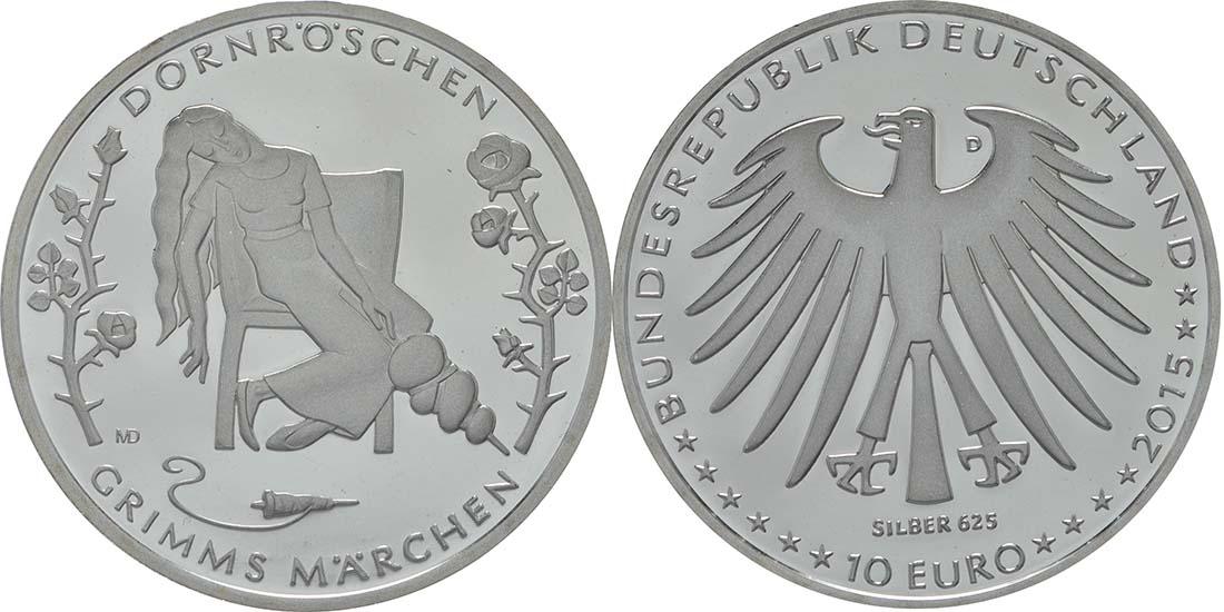Deutschland 10 Euro Dornröschen 2015 Pp