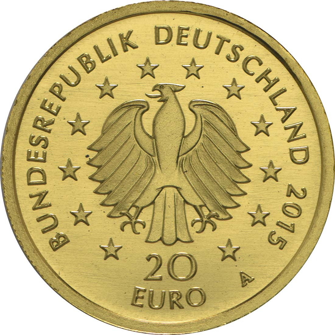 Rückseite :Deutschland : 20 Euro Linde  2015 Stgl.