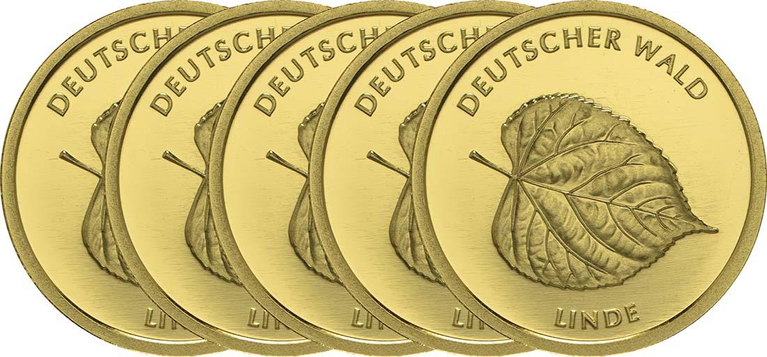 Deutschland : 20 Euro Linde Komplettsatz ADFGJ  2015 Stgl.