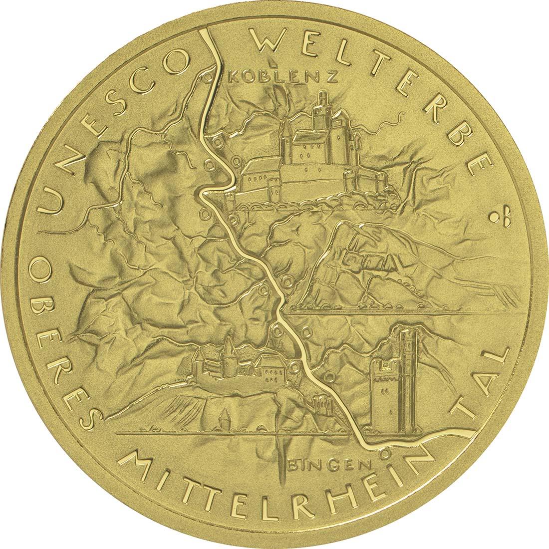 Vorderseite :Deutschland : 100 Euro Oberes Mittelrheintal  2015 Stgl.