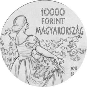 Lieferumfang:Ungarn : 10000 Forint 150. Geburtstag István Csók (Maler)  2015 Stgl.