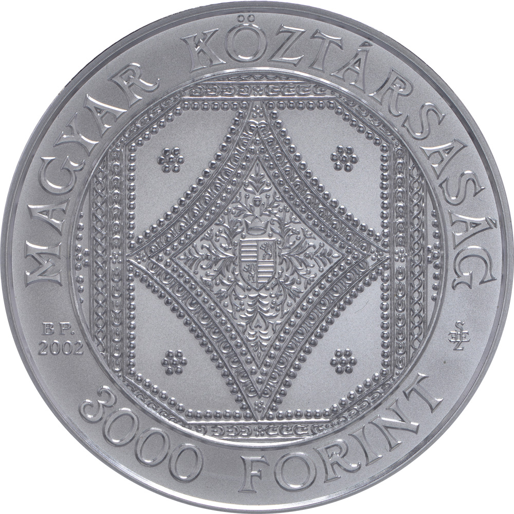 Rückseite:Ungarn : 3000 Forint 200 Jahre Nationalbibliothek  2002 Stgl.