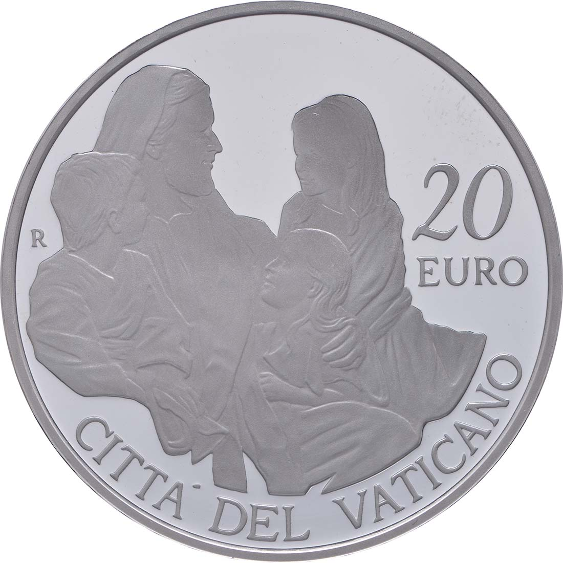 Rückseite:Vatikan : 23,88 Euro KMS Vatikan mit 20 Euro Gedenkmünze Papst Franziskus MMXV  2015 PP